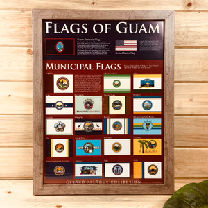 Flags of Guam Poster - 18x24 inches