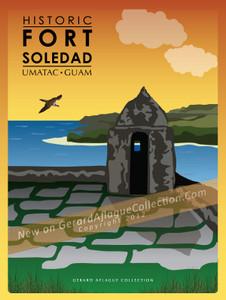 Historic Fort Soledad - Umatac, Guam - 18x24