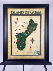 Island of Guam Fine-Art Giclee Poster  - 18x24 (frame not included)