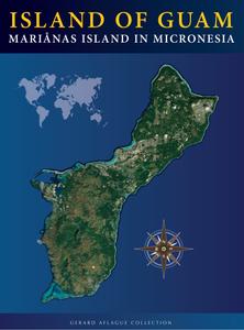 Modern Guam Satellite Map Poster - 18x24