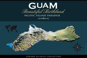 Guam Gift | Guam Souvenir | Home and Office Decor Poster | Island of Guam Topology Illustration