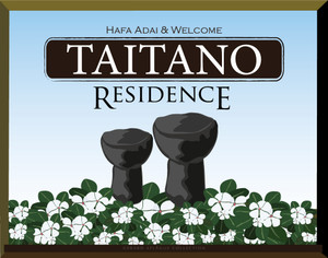 Customize this residential name-plaque with your family name today!