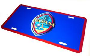 "Modern Guam Seal Flag License Plate Frame - 6""x12"""