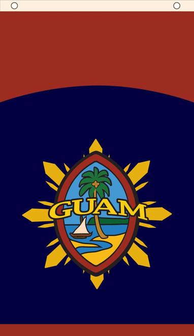 Modern Guam Seal & Philippine Starburst Banner
