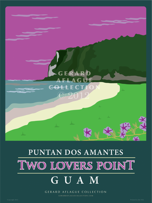 Two Lover's Point  - 18x24 Illustration [FBO]