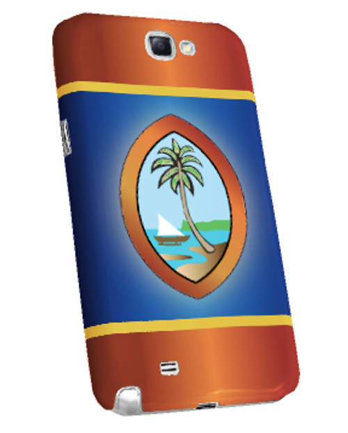 Samsung Galaxy Note 2 Snap-On Case w/Traditional Guam Seal (No Words) Motif - Left View