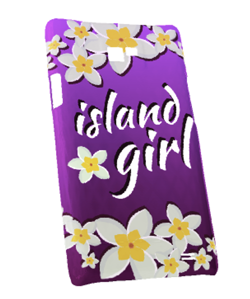Samsung Galaxy S2 Snap-On Case w/Purple Island Girl Motif - Left View