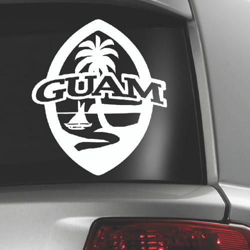 Modern Guam Seal Sticker Decal - 7 inchesa