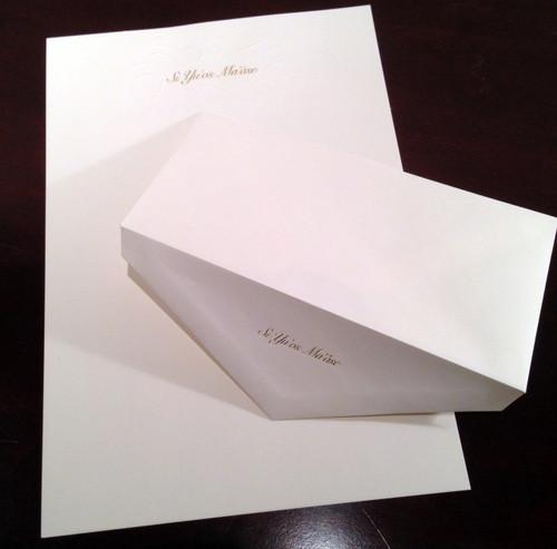 Guam/CNMI Si Yu'os Ma'ase Monarch Personal Stationary & Envelope - 8 Pc Set