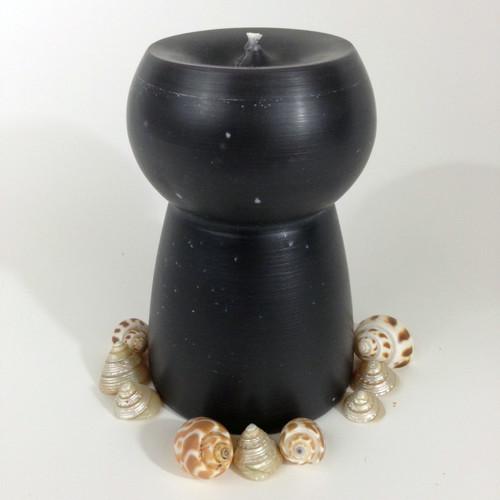Guam/CNMI Latte Stone Black Candle - 4x6 Inch