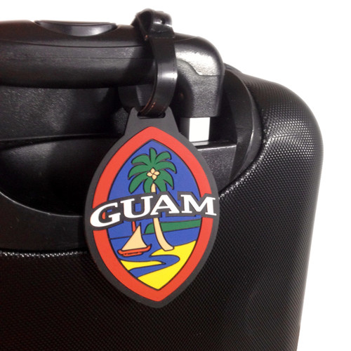Modern Guam Seal Silicone Luggage Tag - 3x4 Inches