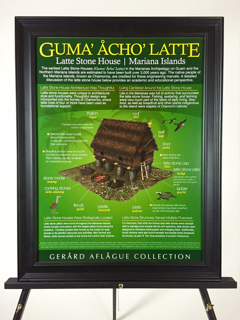 Marianas Latte Stone House of Guam and CNMI [Guma' Acho' Latte] Fine-Art Poster (Frame and easel not included)