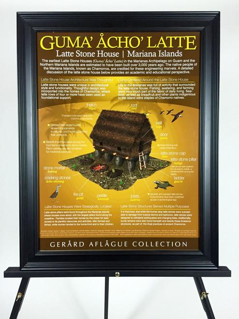 High Quality Print: Brown Marianas Latte Stone House of Guam & CNMI [Guma' Acho' Latte] Poster - 18x24