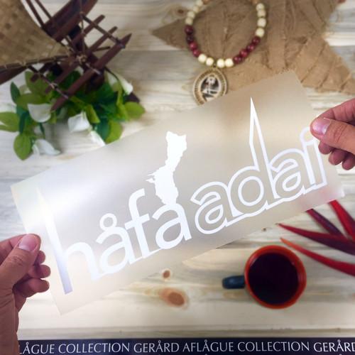 Hafa Adai Guam Island Sticker Decal