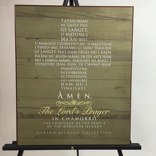 Chamorro Lord's Prayer Wood Motif Plaque - 18x24 inches
