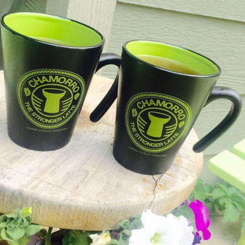 2-pc Palm Green Guam CNMI Latte Stone Mug Set
