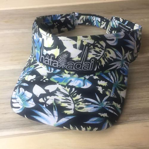 Hafa Adai Dark Floral Guam & CNMI Visor Hat