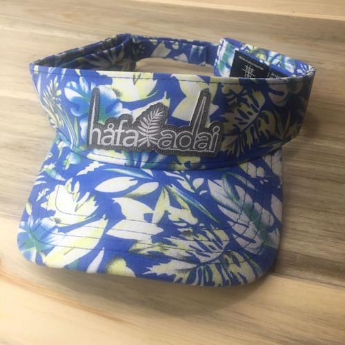 Hafa Adai Sky Blue Floral Guam & CNMI Visor Hat