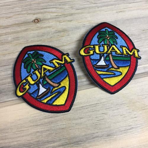 2-pc Modern Guam Seal Iron-on Patch