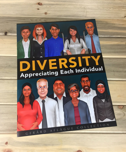 High Quality Print: Diversity and Inclusion Poster - 18x24