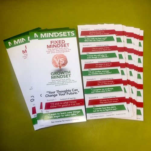 Growth Mindsets Student Prompt Cards and Bookmarks- 35 pcs