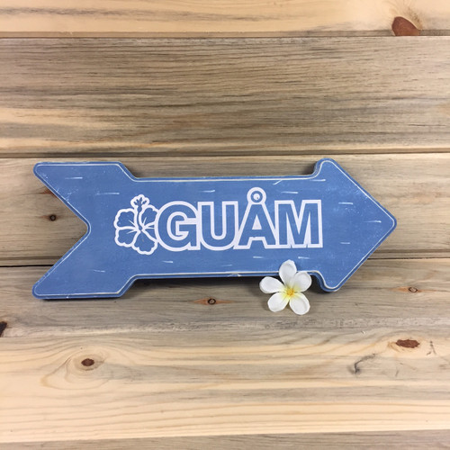 Guam Directional Arrow Wood Sign