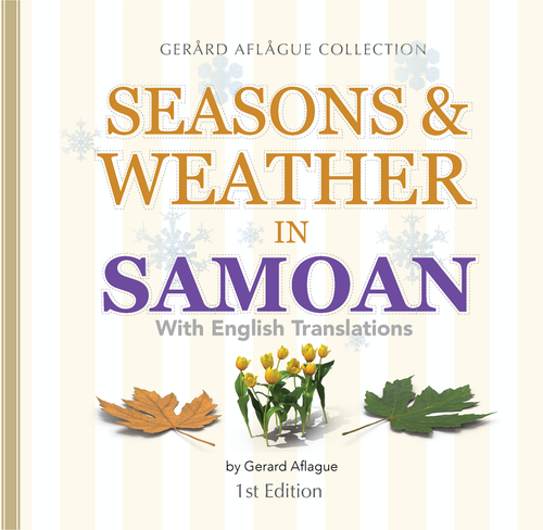Seasons and Weather in Samoan Children's Book