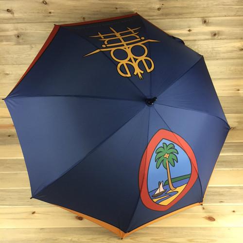 Modern Guam Seal Tribe Brand 54 Inch Umbrella