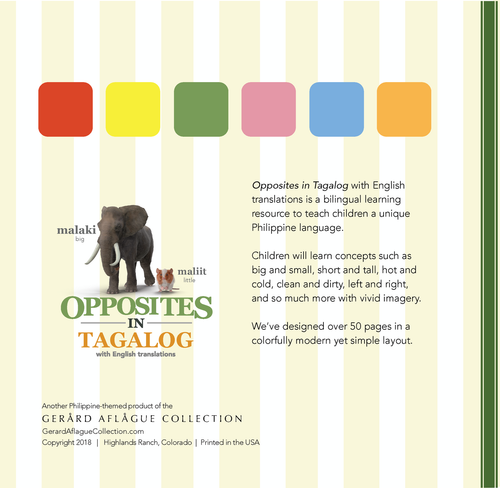 Opposites in Tagalog with English Translations Book