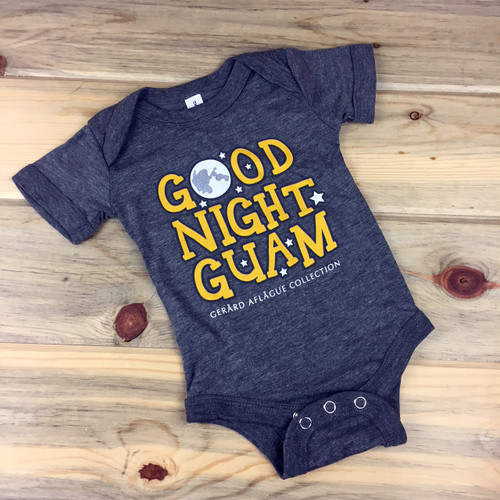 Good Night Guam Heather Baby Onesies