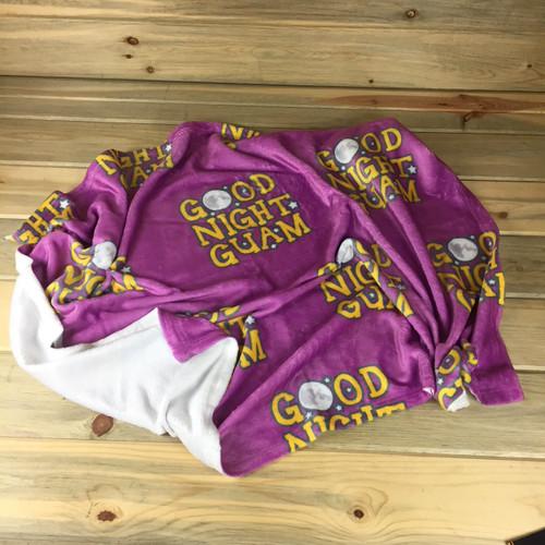 Toddlers Pink Good Night Guam Blanket