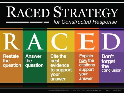 High Quality Print: Teacher Created - Short RACED Strategy Poster - 18x24