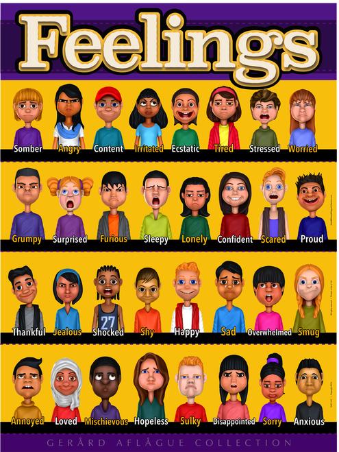 New Kids Feelings Poster - 18x24
