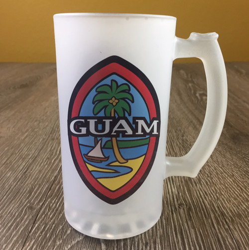 Modern Guam Seal Frosted Mug