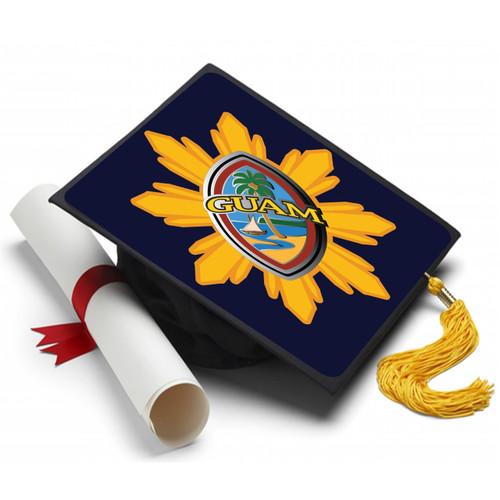 Modern Guam Seal Philippine Starburst Graduation Cap Topper