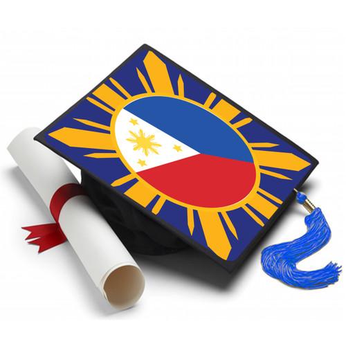 Philippine (Filipino) Flag (Pinoy) Graduation Cap (Hat) Topper