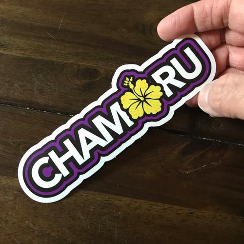 "Hibiscus Chamorro Dope Decals - 4"""
