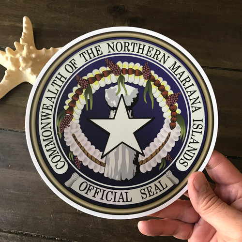 CNMI Official Seal - 7 Inch Sticker Decal