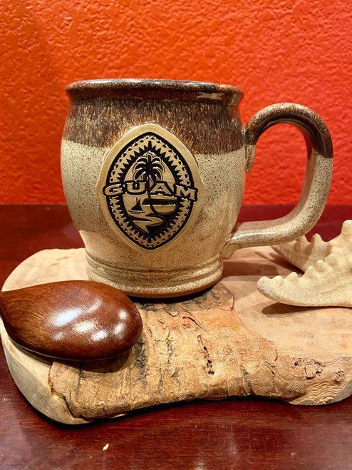 Tribal Guam Seal Cinnamon Coffee and Tea Mug