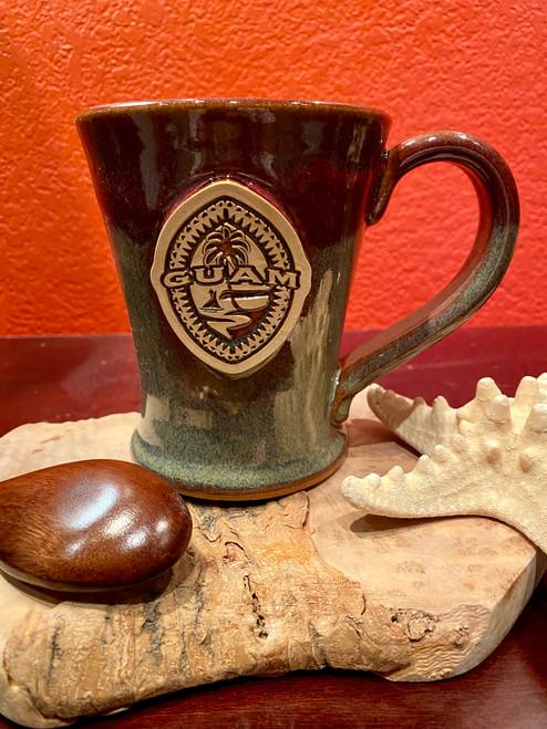 Tribal Guam Seal Cranberry Coffee and Tea Mug