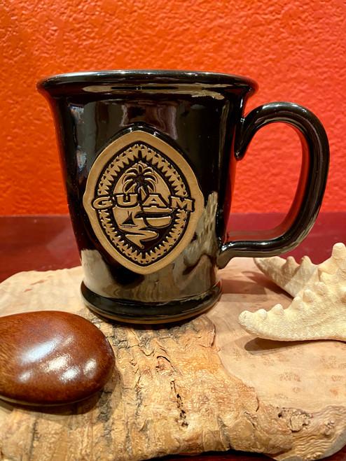 Tribal Guam Seal Black Coffee and Tea Mug