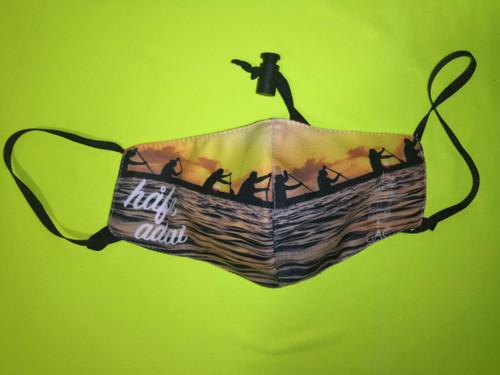 Hafa Adai Paddler Sunset Face Mask
