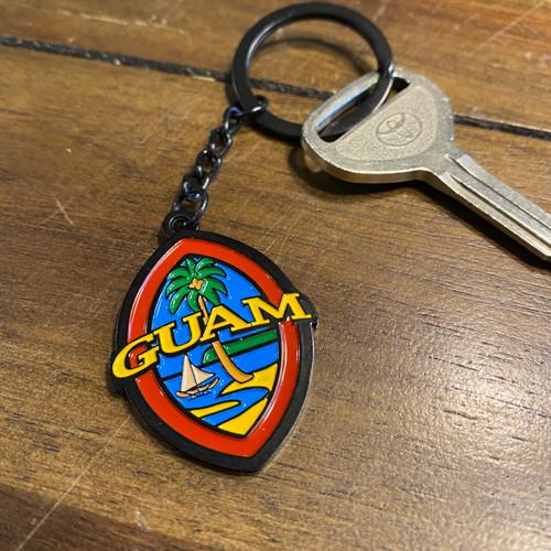 Midnight Modern Guam Seal Key Chain