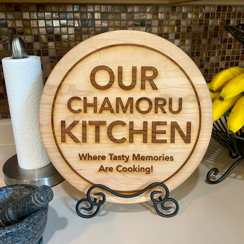 Our Chamoru Kitchen Chopping Board w/Stand