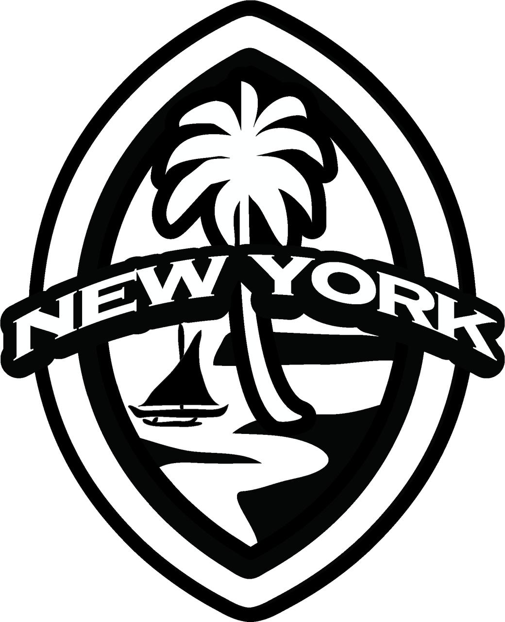 2 pc new york modern guam seal sticker decal set New York State Bird