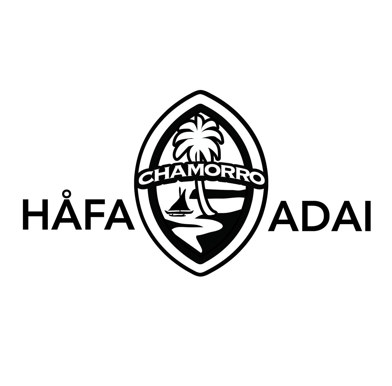 Hafa adai chamorro guam seal decal choose color 14 inches wide