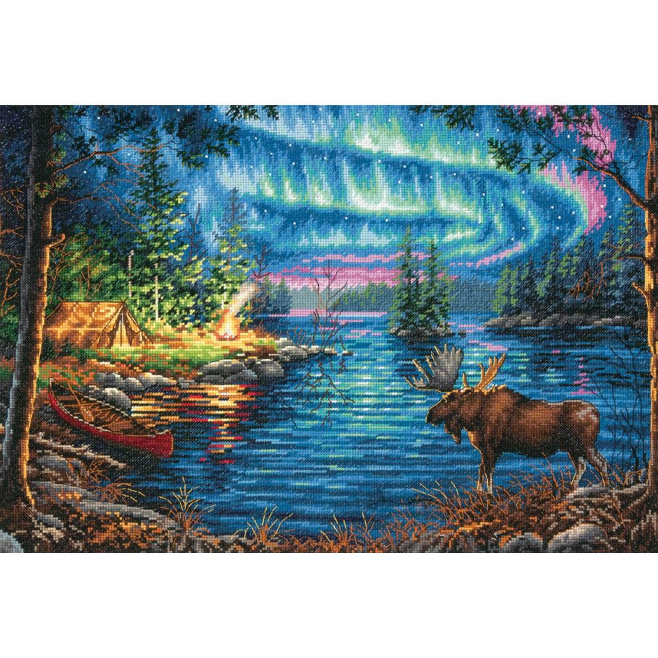 Northern Night Dimensions Cross Stitch Kit