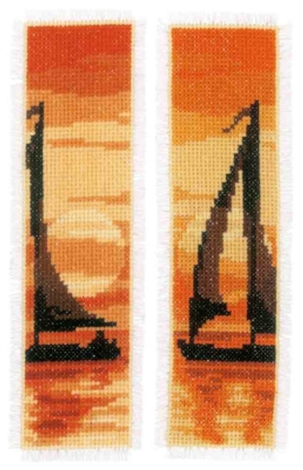 Sailing at Sunset - Vervaco Bookmarks Counted Cross Stitch Kit