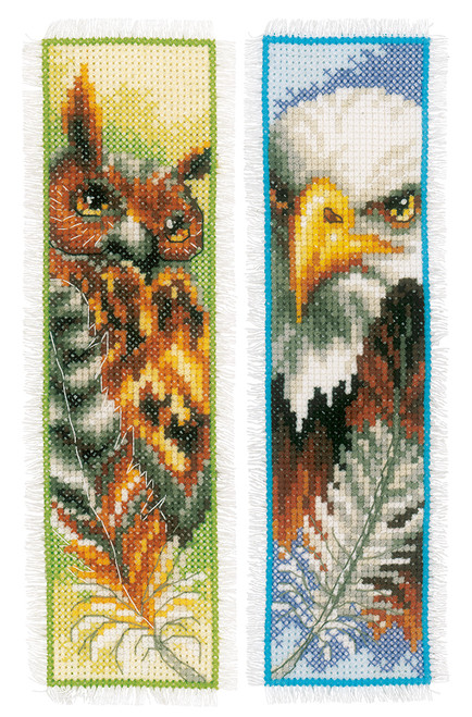 Eagle & Owl - Vervaco Bookmarks Counted Cross Stitch Kit