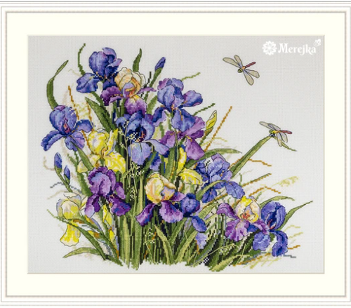 Irises - Merejka Counted Cross Stitch Kit